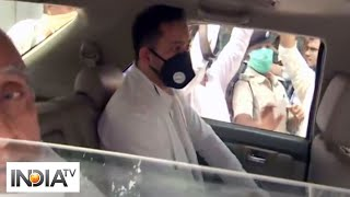 Tejashwi Yadav stopped on way to meet victims of Gopalganj firing incident - INDIATV
