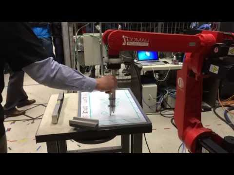Industrial robot hybrid force control lead-through programming