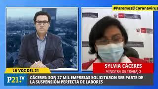 ¿Bono de desempleo ministra Sylvia Cáceres