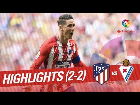 Resumen de Atlético de Madrid vs SD Eibar (2-2)