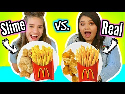 connectYoutube - Making FOOD Out Of SLIME! Slime VS Food With Mackenzie Ziegler