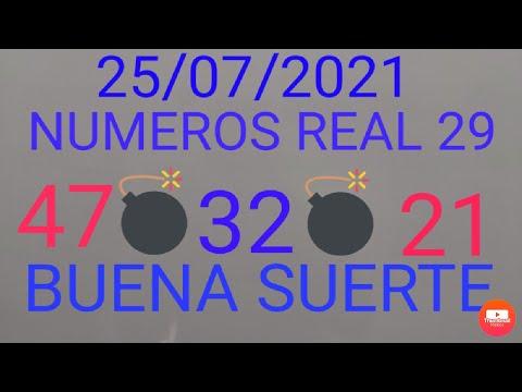NUMEROS PARA HOY 25/07/21 DE JULIO PARA TODAS LAS LOTERIAS