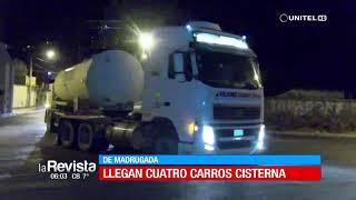 Cuatro carros cisternas llegan a Cochabamba para abastecer de oxígeno a hospitales