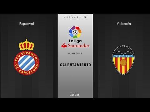 Calentamiento Espanyol vs Valencia