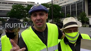 France: Yellow Vest protesters rally near Finance Ministry in Paris