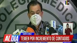 Colegio Médico cruceño teme por incremento de contagios en la ciudad
