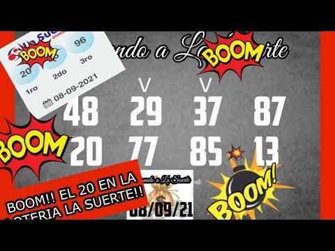 BOOM!! EL 20 EN LOTERIA LA SUERTE !!