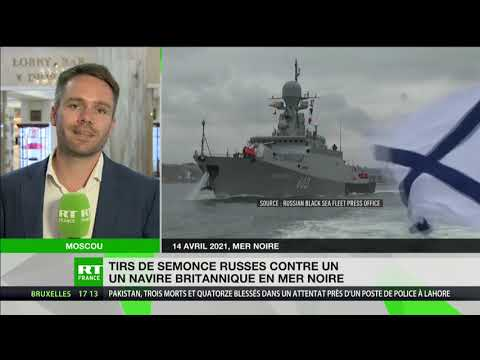 Tirs de semonce russes contre un navire britannique en mer Noire
