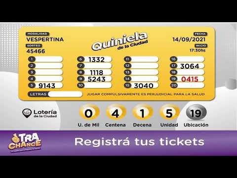 Transmisión en vivo de Lotería de la Ciudad