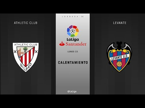 Calentamiento Athletic Club vs Levante