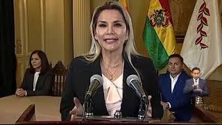 Mensaje de la presidenta de Bolivia, Jeanine Áñez, en el Día del Mar.
