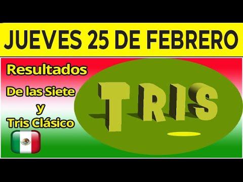 Resultados del sorteo Tris de las Siete y Clasico del Jueves 25 de Febrero de 2021