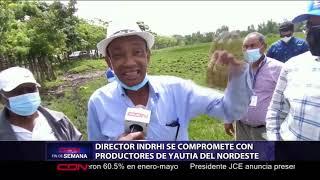 Director del INDRHI se compromete con productores de yautía del nordeste