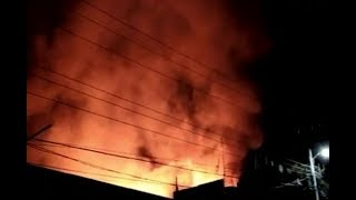 Se registra incendio mercado de Mazatenango