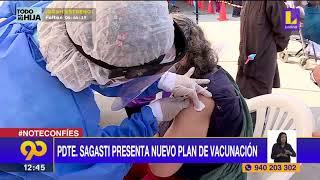 ???? El Presidente de la república Francisco Sagasti presenta nuevo plan de vacunación