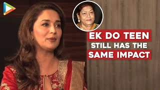 Madhuri Dixit EXCLUSIVE on historic work that she has done with Saroj Khan - HUNGAMA