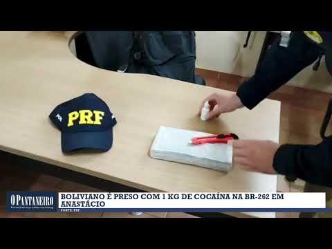 Boliviano é preso com 1 kg de cocaína na BR-262 em Anastácio