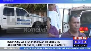 ¡Varios heridos! deja colisión en Río Abajo, carretera a Olancho