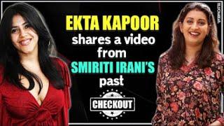 Ekta Kapoor shares a video from Kyunkii Saas Bhi Kabhi Thi's Tulsi aka Smirti Irani's past I - TELLYCHAKKAR