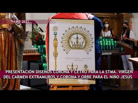 Presentación diseños nuevo ajuar Virgen del Carmen Extramuros