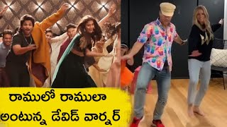 David Warner Superb Dance For Ramulo Ramula Song | David Warner Ramulo Ramula Dance - RAJSHRITELUGU