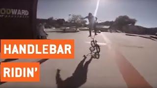 Impressive Standing Handlebar Ride | No Hands