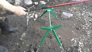 Подставка под 2 удилища донного и поплавочного  видео