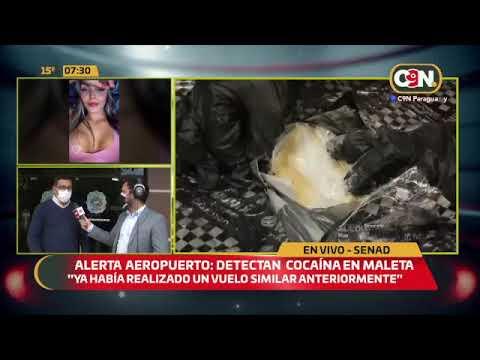 Alerta aeropuerto: Detectan cocaína en maleta de pasajera