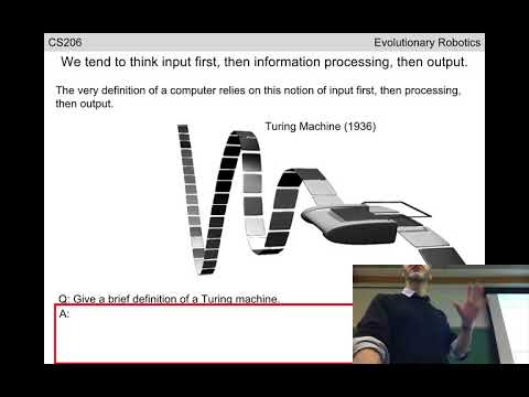 Evolutionary robotics Lecture 03: Embodied cognition. (Recorded Jan 23, 2018)