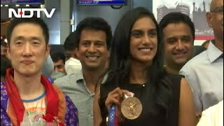 PV Sindhu Back In India After Winning Bronze At Tokyo Olympics - NDTV