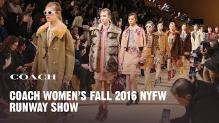 Coach Women Fall 2016 Runway Show