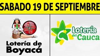 Resultados Lotería de BOYACÁ y CAUCA Sábado 19 de Septiembre de 2020 | PREMIO MAYOR ????????????