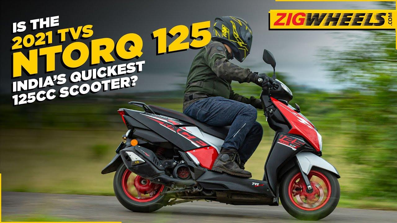 2021 TVS NTorq 125 Race XP Is India's Quickest 125cc Scooter    BikeDekho.com