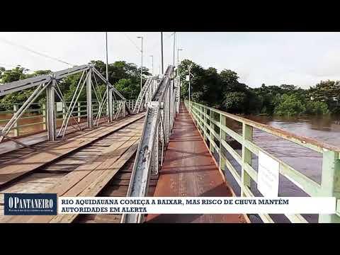 Rio Aquidauana começa a baixar, mas risco de chuva mantém autoridades em alerta