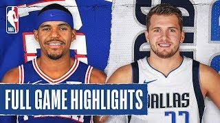 76ERS at MAVERICKS | FULL GAME HIGHLIGHTS | January 11, 2020
