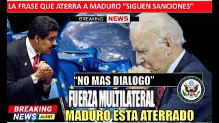 Maduro esta aterrado Joe Biden solo acepta una opcion