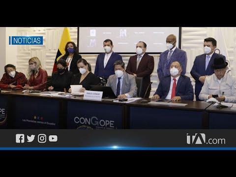 Autoridades del Congope se reunieron para tratar deuda del Gobierno central