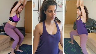 Hamsa Nandini Special Yoga Workout | Hamsa Nandini Hot Gym Workout - RAJSHRITELUGU