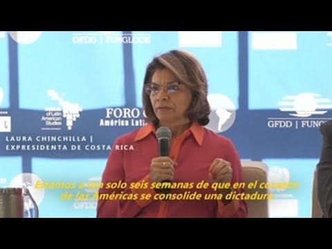Chinchilla asegura que Nicaragua está a punto de tener una dictadura como la norcoreana