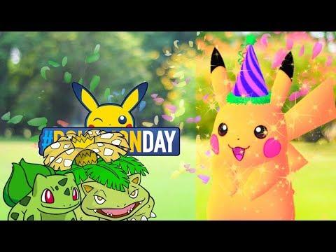connectYoutube - SHINY BULBASAUR/VENUSAUR & PARTY HAT PIKACHU?! & 3RD POKEMON GO COMMUNITY DAY! - POKEMON GO NEWS