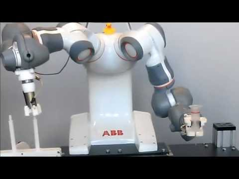 Compliant peg-in-hole with ABB dual-arm robot