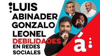 Experto señala debilidades de campañas de Leonel, Gonzalo y Luis