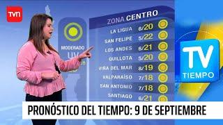 Pronóstico del tiempo: Miércoles 9 de septiembre | TV Tiempo