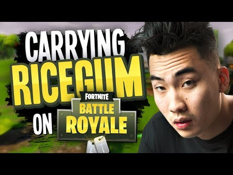 connectYoutube - CARRYING RICEGUM on Fortnite Battle Royale