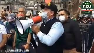 Gilberto Lozano desde el Zócalo de la Ciudad de México Declaración de Independencia ????????????