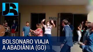 Presidente Bolsonaro aproveita o sábado para viajar por Goiás