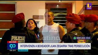 Detienen a boxeador Juan Zegarra tras persecución