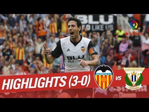 Resumen de Valencia CF vs CD Leganés (3-0)