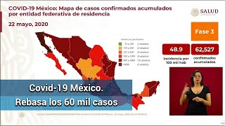 México rebasa los 60 mil casos de Covid; suman 6,989 muertes