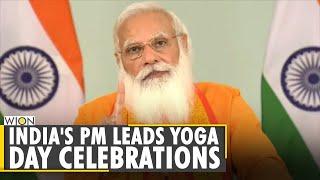 India: PM Modi addresses the 7th Yoga day program   International Yoga Day 2021  Latest English News